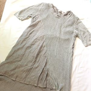 SIMPLY COUTURE BOHO GREY TIERED TUNIC